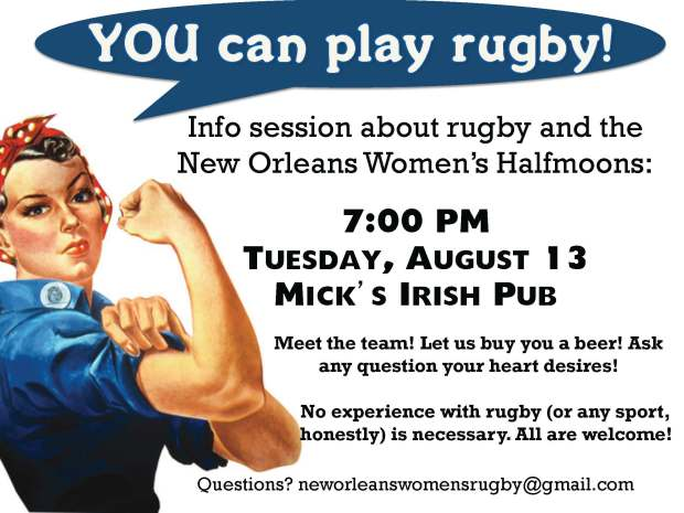 Rugby recruiting poster